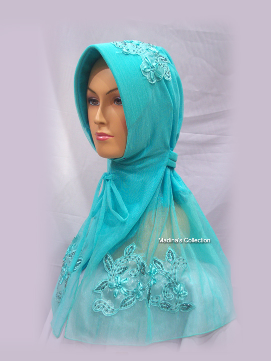 Jilbab Impresive Blue Tosca (J-15) * SOLD OUT *
