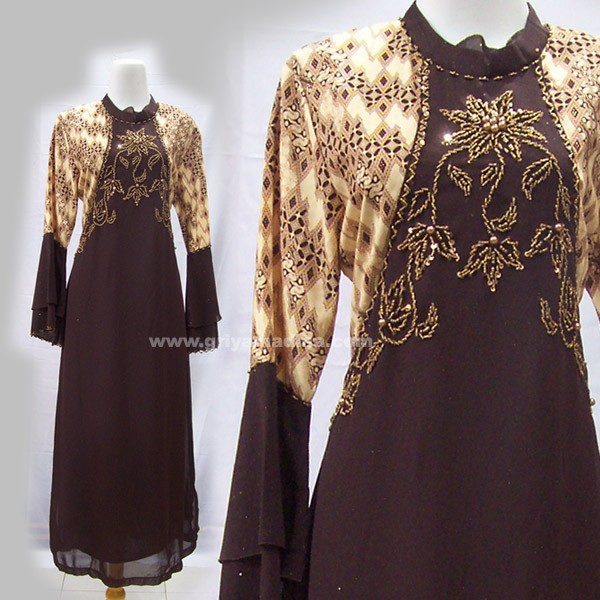 Model Gamis Batik Kombinasi Polos Tattoo Design Bild