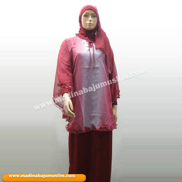 Model Baju Gamis Muslimah Koleksi Busana Jilbab Holidays Oo